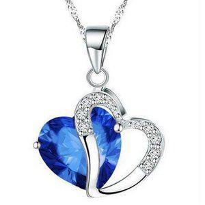 pendant angel wicca Saphire Women Heart Shape